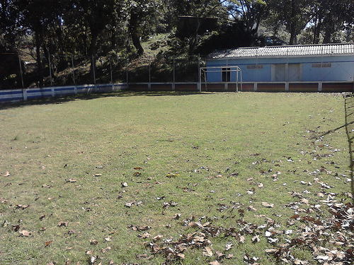 The pitch at Casa Rafael on 19 November 2012... now with grass!