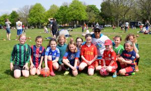 Hope with Broomwood FC girls