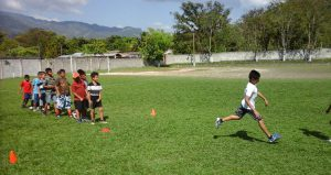 Honduras kids playing football